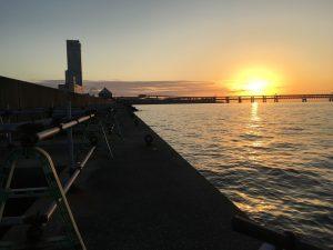 前島の夕焼け2